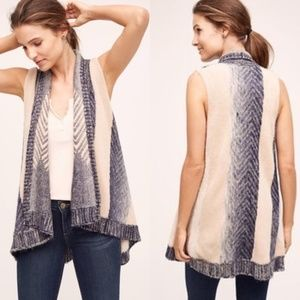 ANTROPOLOGIE Sleeping On Snow Mabli Vest XS S